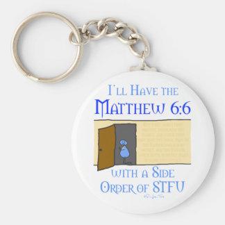 Matthew 6:6 key ring