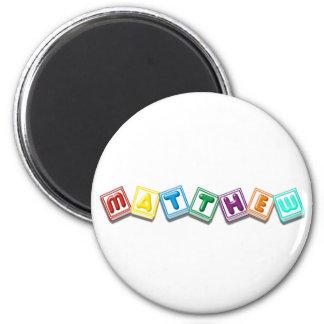 Matthew 6 Cm Round Magnet