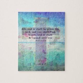 Matthew 7:7-8 Inspirational Bible Verse Christian Puzzles