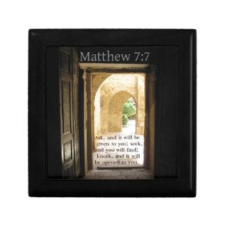 Matthew 7:7 Beautiful Bible Verse Gift Box