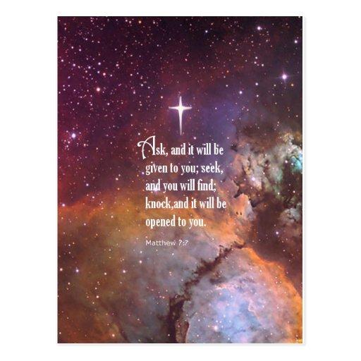 Matthew 7:7 postcards