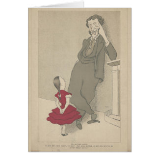 Matthew Arnold and his niece by Max Beerbohm Card
