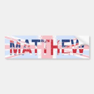 Matthew Car Bumper Sticker