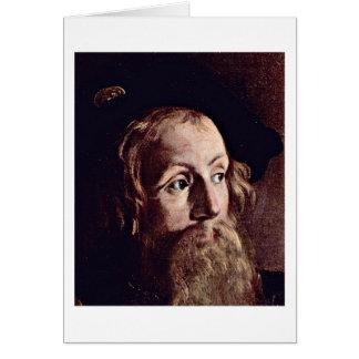 Matthew By Michelangelo Merisi Da Caravaggio Greeting Card