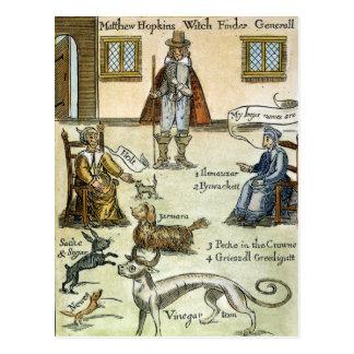 Matthew Hopkins (D 1647) Postcard