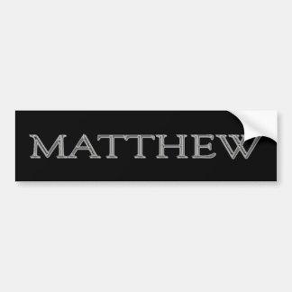 Matthew Personalized Name Bumper Sticker