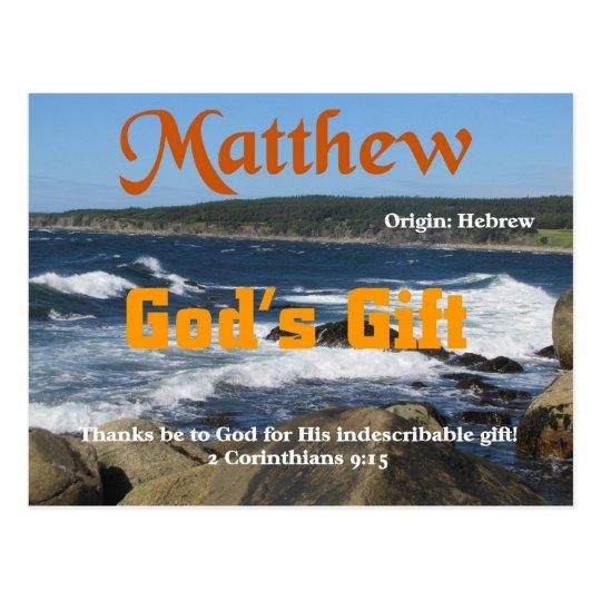 Matthew Postcard