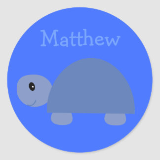 Matthew´s cute blue cartoon turtle stickers
