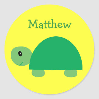 Matthew´s cute green turtle stickers