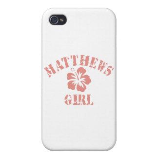 Matthews Pink Girl iPhone 4 Cases