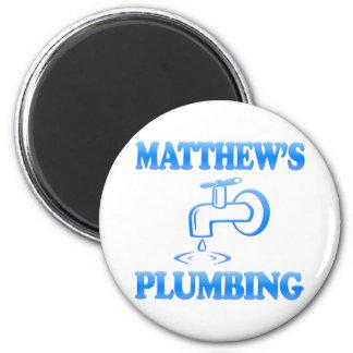 Matthew's Plumbing Refrigerator Magnets