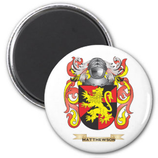 Matthewson Coat of Arms (Family Crest) 6 Cm Round Magnet