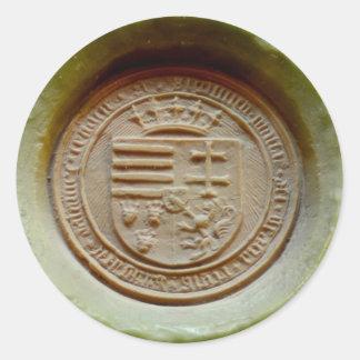Matthias Corvinus seal budapest museum hungary Round Sticker