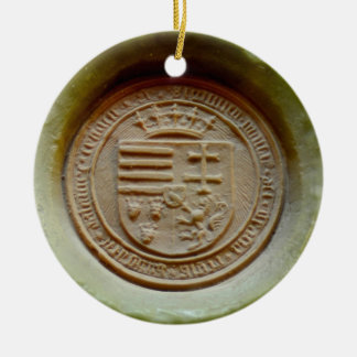 Matthias Corvinus seal budapest museum hungary wax Christmas Ornament