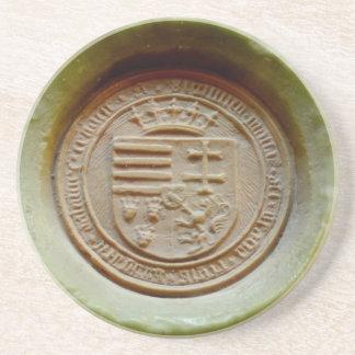 Matthias Corvinus seal budapest museum hungary wax Coaster