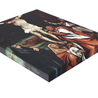 Matthias Grünewald- Calvary Stretched Canvas Print