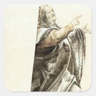 Matthias Grünewald: Complaining Pharisee Square Sticker