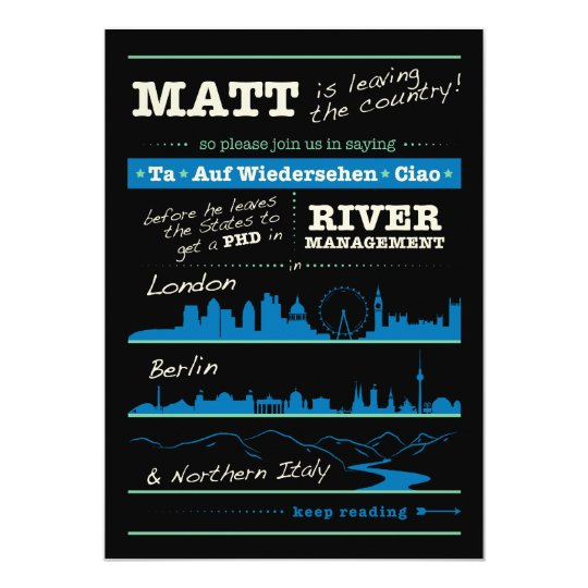 Matt's Graduation Party Card