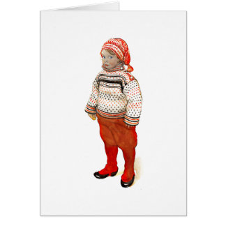 Matts in Sweater and Stocking Hat Greeting Card