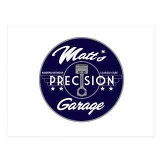 Matt's Precision Garage Standard Logo Postcard