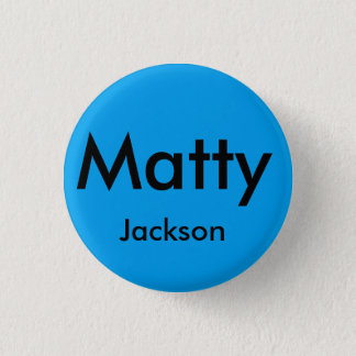 Matty jackson brooklyn bage 3 cm round badge