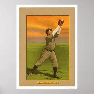 Matty McIntyre Tigers Baseball 1911 Poster