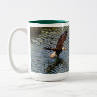 Mature Bald Eagle Hunting Wildlife Art Two-Tone Mug