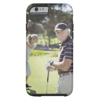 Mature couple playing golf tough iPhone 6 case