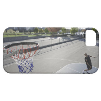 mature man shooting basketball iPhone 5 covers