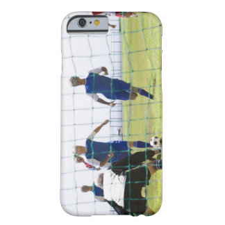 mature men kicking soccer ball towards barely there iPhone 6 case