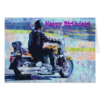 """Mature"" Motorbike Biker Birthday Card"