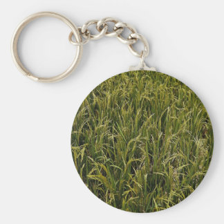 Mature rice crop texture key chain