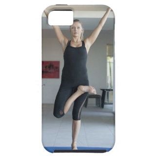 Mature woman exercising 2 iPhone 5 case