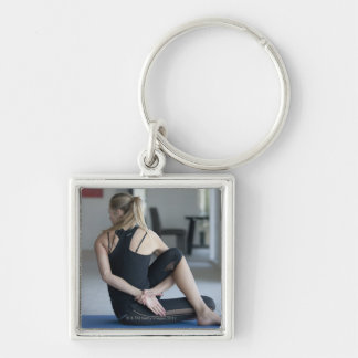 Mature woman exercising 4 key chain