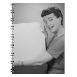 Mature Woman Spiral Notebook