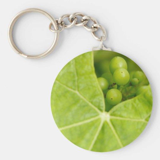 Maturing grapes basic round button key ring