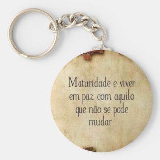 maturity basic round button key ring