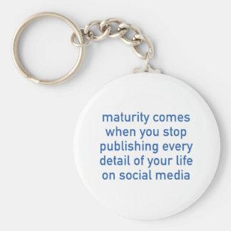 Maturity Comes When You Stop Publishing Key Chain