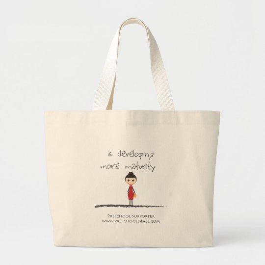 maturity-girl large tote bag
