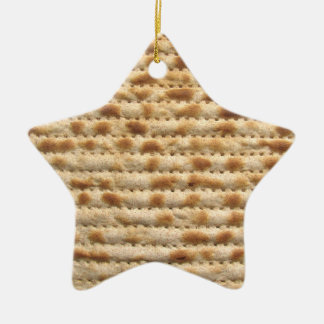 Matzah biscuit flatbread star ornament decoration