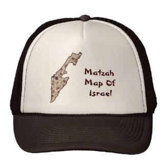 Matzah Map Of Israel Cap