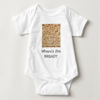 Matzah - where's the bread? baby bodysuit