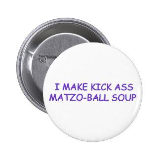 MATZO-BALL MASTER 6 CM ROUND BADGE