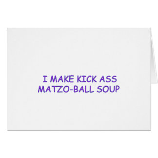 MATZO-BALL MASTER GREETING CARD