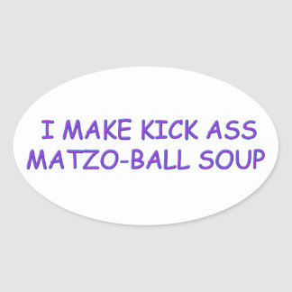 MATZO-BALL MASTER OVAL STICKER