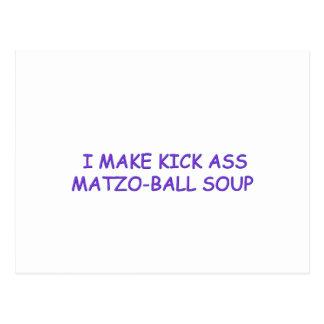 MATZO-BALL MASTER POSTCARD