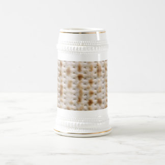 Matzo Elijah's Cup or Stein for Pesach (gold trim) Beer Steins