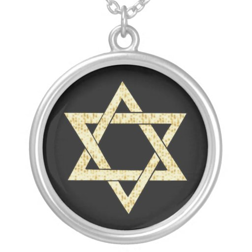 Matzoh Star of David Personalized Necklace