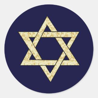 Matzoh Star of David Round Sticker