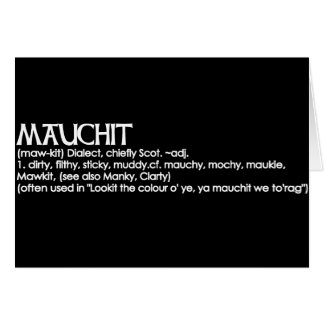 Mauchit Greeting Card